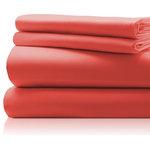 LuxorLinens - Gregorio Hotel Collection 600 Thread Count Sheet Set, Honeysuckle, Queen - Overview