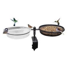 Bird Feeder and Bird Bath Deck Bowl