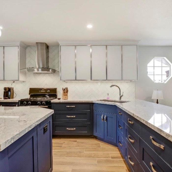 Beautiful Blue Kitchen