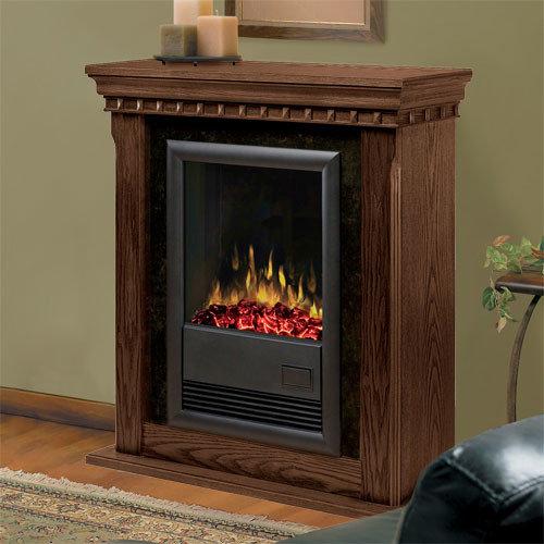 dimplex bravado nutmeg electric fireplace mantel package dfp181041n indoor fireplaces - Electric Fireplace With Mantel