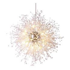 """LED Dandelion Globe Pendant Light By Morsale, 16 Lights Diameter 35"""""""