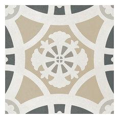 "Encaustic Design Gray &White 8""x8"", Set of 29"