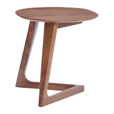 MOD   Flint Modern Wooden End Table, Walnut   Side Tables And End Tables