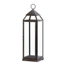 Extra Tall Bronze Contemporary Lantern