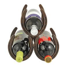 Horseshoe 3 Bottle Wine Rack