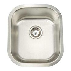 artisan   premium series stainless steel 16 gauge single bowl kitchen sink   kitchen sinks 12 deep kitchen sinks   houzz  rh   houzz com