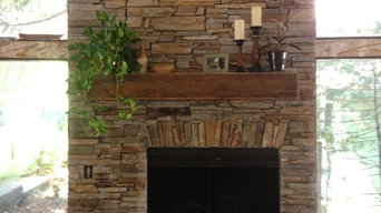 Old West Ledge Veneer fireplace