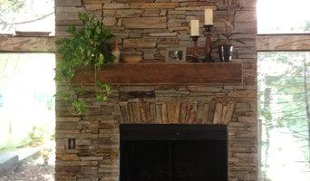 Old West Ledge Veneer fireplace