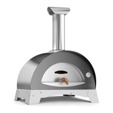 """Ciao M 27"""" Countertop Wood Fired Pizza Oven, Silver Gray"""