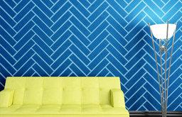 Herringbone Pattern Wall Stencil for Painting