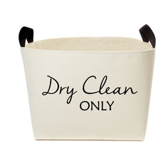 A Southern Bucket - Dry Clean Only Canvas Laundry Basket - Hampers