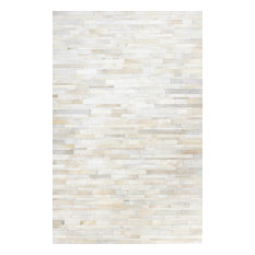 Bashian Aldrich Area Rug, White, 5'x8'