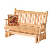 6' Cedar Porch Glider, Traditional English, Oak Stain