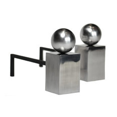Spherical Fire Dogs, Set of 2