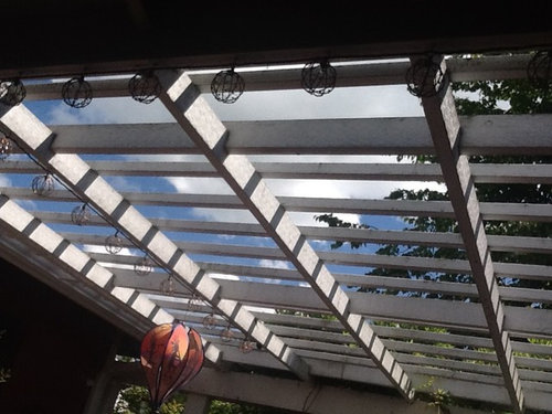 - Clear Roof Over Pergola