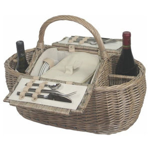Boat Fitted Picnic Basket, 4 Person