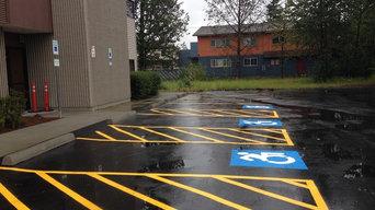 Seal coat parking lot