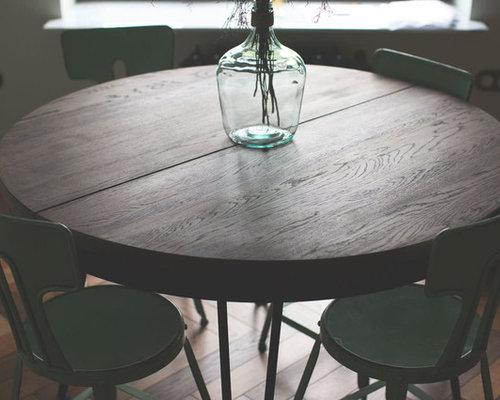 Tavolo tondo allungabile industriale