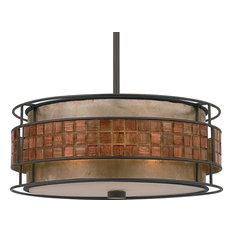 Luxury Art Deco Bronze and Mosaic Chandelier, UQL2431, Genoa Collection