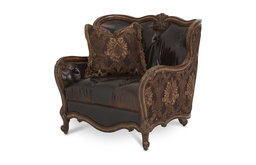 AICO Lavelle Melange Leather/ Fabric Chair