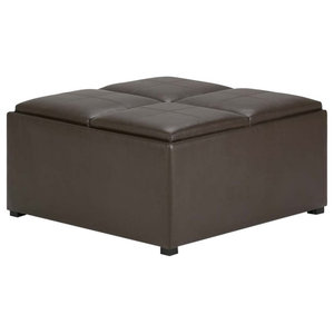 Awesome Avalon 35 Contemporary Square Storage Ottoman Squirreltailoven Fun Painted Chair Ideas Images Squirreltailovenorg
