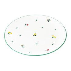 Hand-Painted Dinner Plate, Alpine Flowers