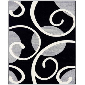 Couture COU06 Rug, Grey and Black, 200x290 cm