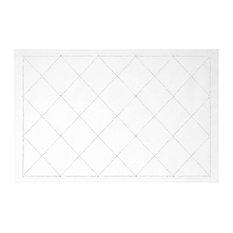 Sparkles Home Rhinestone X Placemat - White Velvet