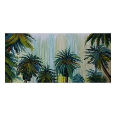 """PalmTrees"" Acrylic Painting, 140x65 cm"