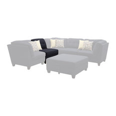 Coaster Fine Furniture - Coaster Keaton Armless Chair Midnight Blue 503451 - Sectional Sofas  sc 1 st  Houzz : armless sectional - Sectionals, Sofas & Couches
