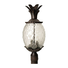 "Acclaim Lighting 7517 3 Light 22.25""H Pineapple Post Light - Black"