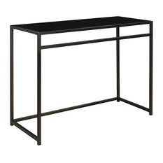 Convenience Concepts   Glass Top Console Table, Black   Console Tables