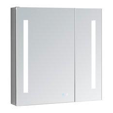 AQUADOM Signature Royale LED Lighted Mirror Glass Medicine Cabinet ...