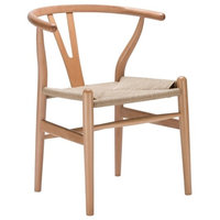 Poly and Bark Weave Chair, Natural