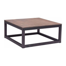 Zuo Modern Contemporary   Civic Center Square Coffee Table, Distressed  Natural   Coffee Tables