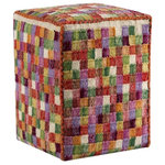 """M.A. Trading Inc - Small Box, Multi, 20""""x16""""x16"""" - A fun product and design for those with an adventurous design style. The Small Box pouf is a hand-woven cushion that features tiny geometric squares in alternating dye levels that dance upon the surface of the fabric. An ideal finishing touch to your design project, this pouf can easily tie a room look together and shows your attention to detail. Great for use as extra seating. This style is also available in decorative pillows and floor rugs."""