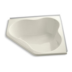 """5454 54""""x54"""" Alcove Bath With Integral Flange, Biscuit"""