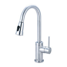Pioneer Single Handle Pull Down Kitchen Faucet Polished Chrome Kitchen Faucets