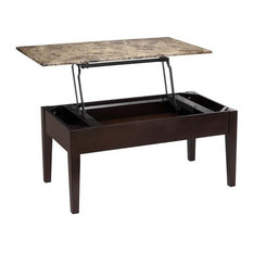 Dorel Asia   Dorel Living Faux Marble Lift Top Coffee Table, Espresso   Coffee  Tables