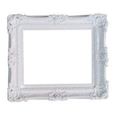 Decorative Baroque-Style White Frame