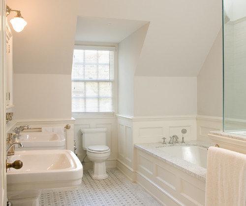 Wainscoting Bathroom: Wood Wainscoting Around Tub