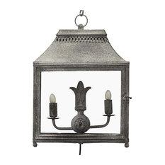 Forged Iron Hanging Lantern, Grey