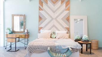 Apartamento en tonos turquesas