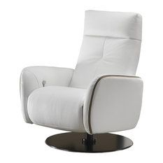 Tweed Relax Leather Swivel Armchair