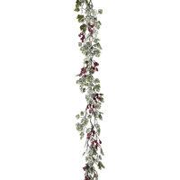 "72"" Frost Mini Grape Leaf& Berries Garland"
