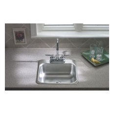 """Sterling B155-1 15"""" Drop In Single Basin Stainless Steel Bar Sink with Single F"""