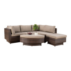 GDFStudio - 6-Piece Brenan Outdoor Sofa Sectional - Outdoor Sofas