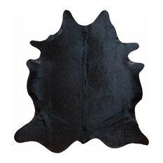 Natural Black Large Brazilian Cowhide