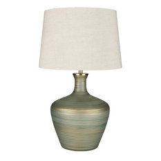 Surya Ollie Oll-001 Traditional Gold Green Table Lamp