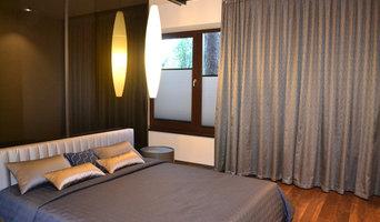 Спальня в синих оттенках